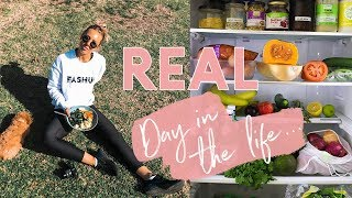 Healthy Grocery Shopping + INSANE Fat Burning Workout Challenge | DAY IN THE LIFE