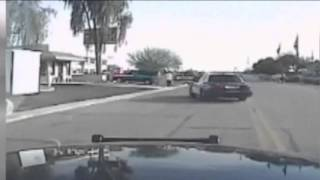 Dash Cam video of Marana Arizona Police cruiser running over suspect