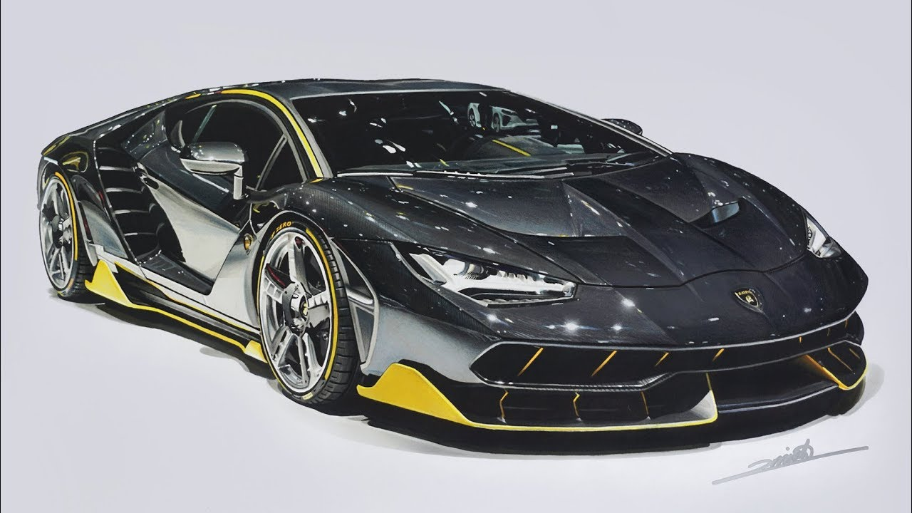 Lamborghini Centenario Drawing Youtube