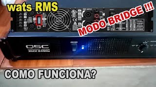 Amplificador QSC 2450a RMX Características Modos y Potencia... Español (2019 - 2020) Review