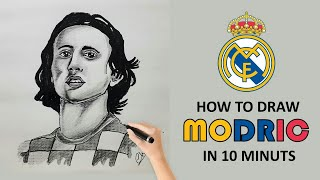 How to Draw Luka Modrić Ballon d