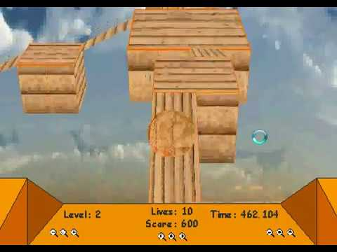 3d wood ball platforms game level1 and level2 complete score 1360