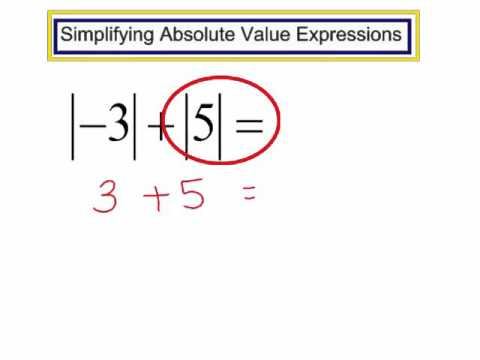 Simplify Absolute Value Expressions