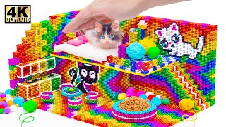 ASMR Video | How To Make Miniature House For Cat From Magnet Balls