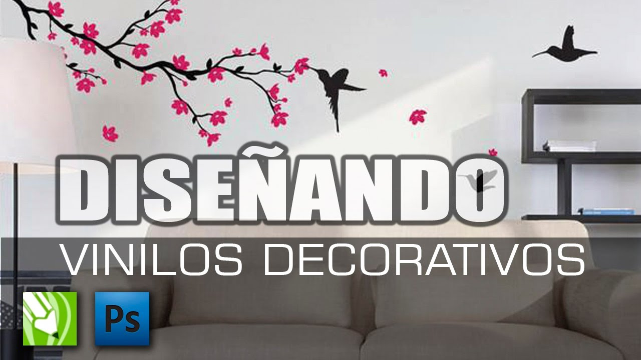 Como dise ar vinilos decorativos youtube for Vinilos decorativos para pared
