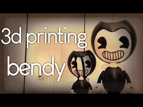 Making Bendy from Bendy and the Ink Machine ( batim 3d print diy)