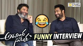 NTR and Trivikram's Funny Interview about Aravinda Sametha | Dasara Special Interview | Pooja Hegde