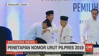 Momen Saat Jokowi-Prabowo Berpelukan, Sandi Cium Tangan Ma'ruf Amin