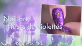Nail art - Violette + Concours Thumbnail