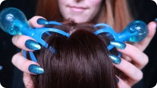 ASMR 💙 Brain-Melting Hair & Scalp Massage, Brush, and Scratch for Stress Relief (No Talking)