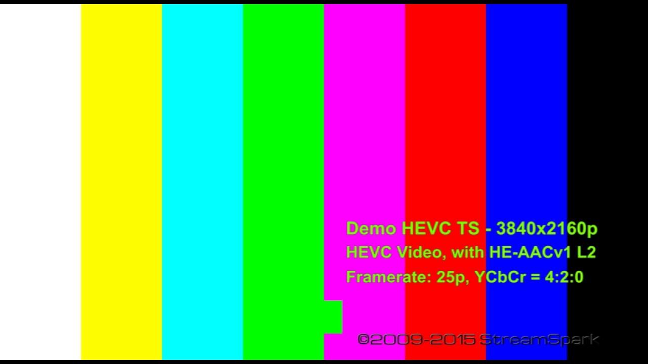 4k Colorbar 2016 Sample In Sd Format