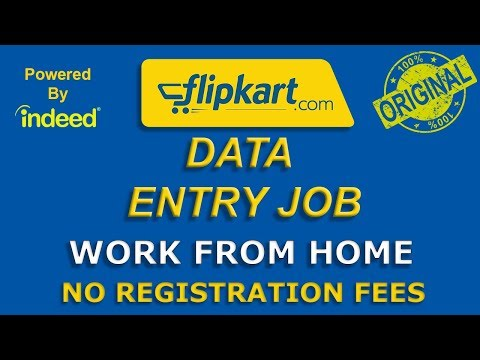 Data Entry Jobs Work From Home || FLIPKART Data Entry || Indeed.com || Typing Job
