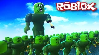Roblox Adventures / Zombie Rush / Giant Zombie Attack!!