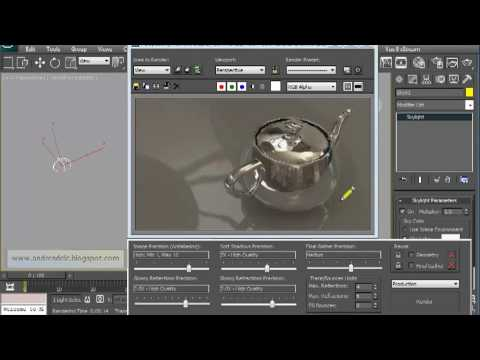 3ds max and mental ray - hdri tutorial