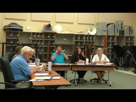 Regular Board Meeting: August 2017