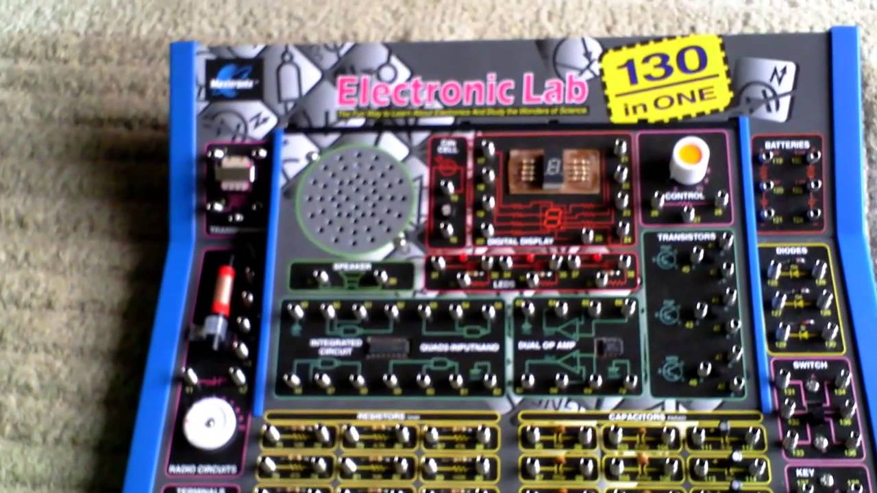 130 In 1 Electronics Lab Hobby Beginners Projects Kit Youtube Circuit