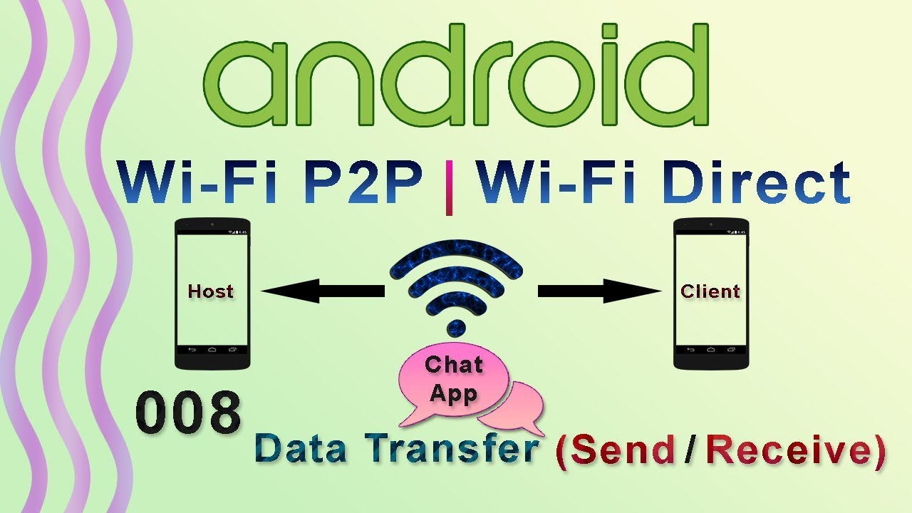 008 : Android Wifi Direct Data Transfer (Send / Receive) : Android WiFi P2P  | WiFi Direct Tutorial