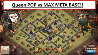Queen POP LaLoon vs MAX META base. OP Attack TH9 War. Clash of Clans
