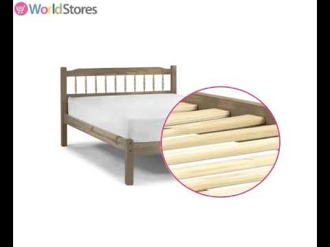 Santos Antique Pine Bed Frame