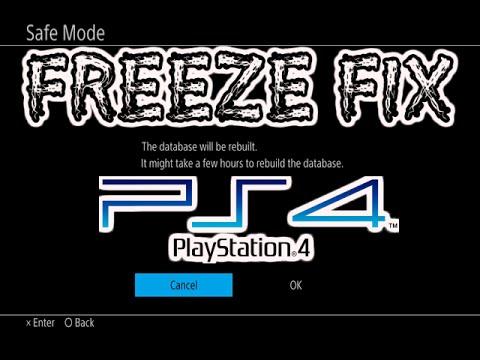 PS4 FREEZE FIX REBUILD DATE BASE SAFE MODE