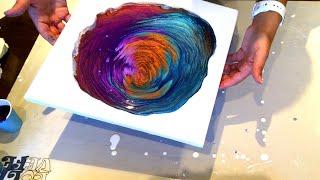 #104 - Kiss Pour | Beautiful colors! | Acrylic Pouring | Fluid Artist