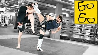 Работа по этажам руками и ногами от Виталия Дунца и Анвара Абдуллаева (тайский бокс, кикбоксинг)