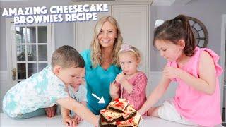 AMAZING CHEESECAKE BROWNIES! (Baking with 4 Kids)