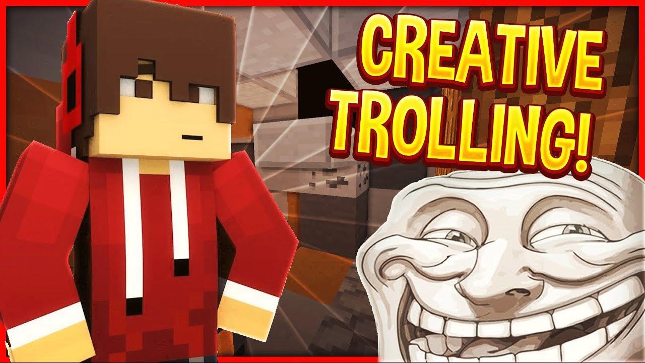 RAIDING GOD BASE IN CREATIVE! (Minecraft Trolling)