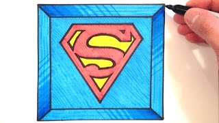 superman drawing draw 3d drawings paintingvalley