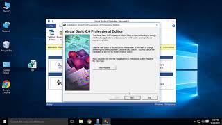 Visual Basic 6 SP6 Working in Windows 10 64-bit