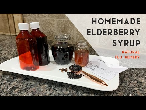 How to make Elderberry Syrup   Natural Flu Remedy