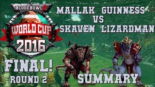 WORLD CUP 2016 final! Round 2 summary - Guinness vs Mallak - Blood Bowl 2