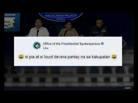 LOURD DE VEYRA TAUNTS OFFICE OF THE PRESIDENTIAL SPOKESPERSON ON ITS INSULTING FACEBOOK LIVE COMMENT