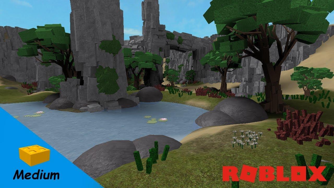 Roblox Studio Speed Build Oasis Youtube