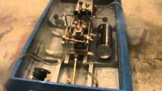 Test of steam engine with flash boiler on the model boat after winter
