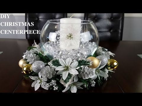 Centerpiece ideas: DIY Glam Christmas Centerpiece