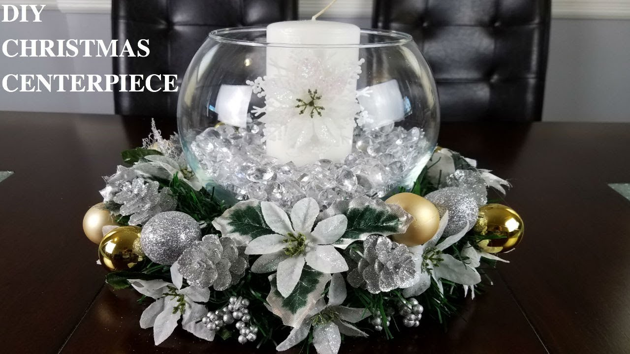 Centerpiece Ideas Diy Glam Christmas Centerpiece Youtube