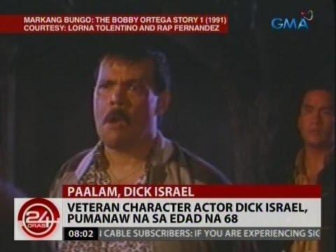 24 Oras: Veteran character actor Dick Israel, pumanaw na sa edad na 68