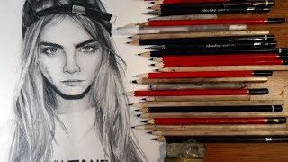 drawing Cara Delevingne