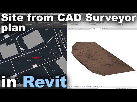 Site from Surveyor in Revit Tutorial