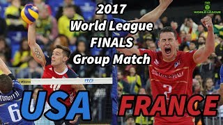 Usa Vs  France - 2017 World League Finals  - All Breaks Removed