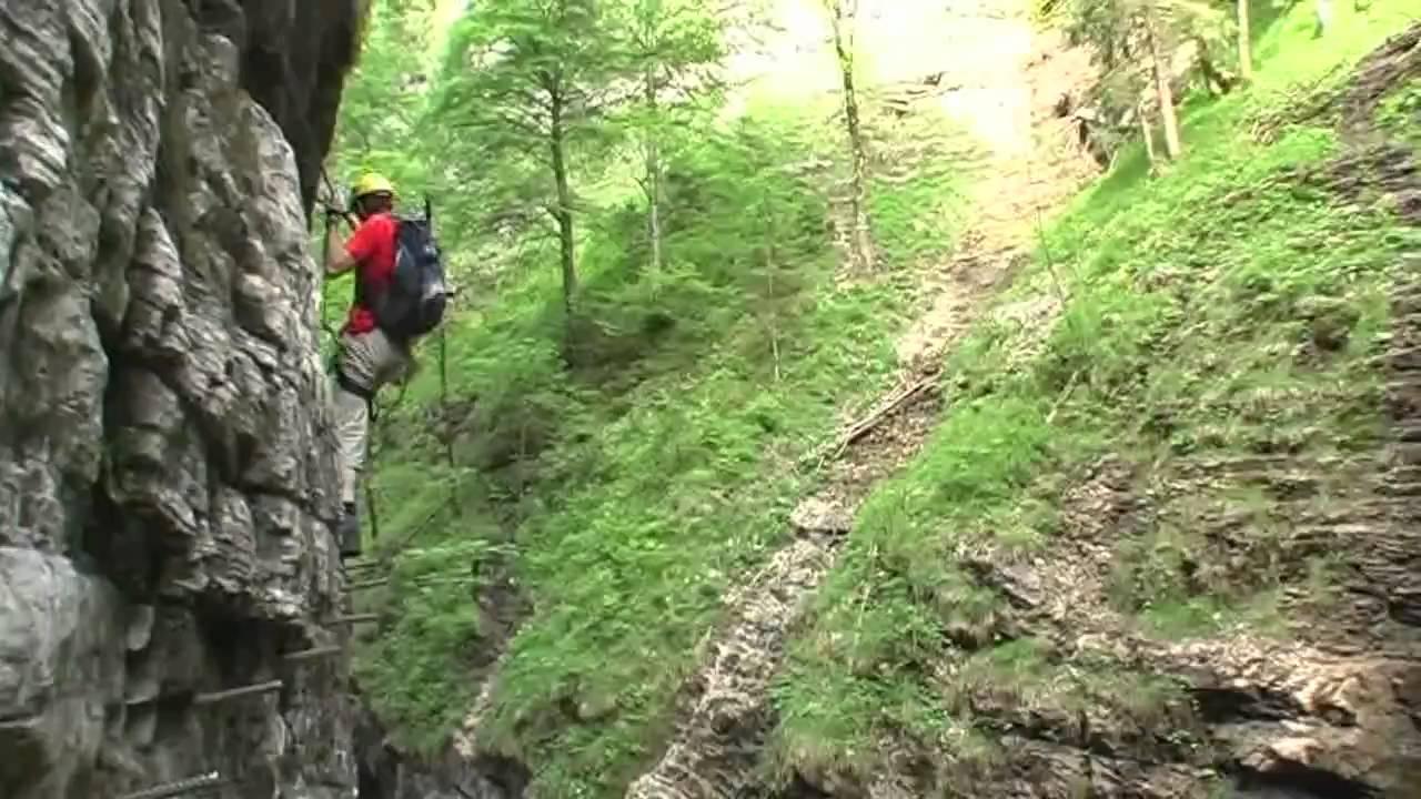 Klettersteig Postalmklamm : Postalmklamm klettersteig 06 2010 youtube