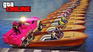 Boat Bridge Challenge: Gunrunning Edition! || GTA 5 Online || PC (Funny Moments)