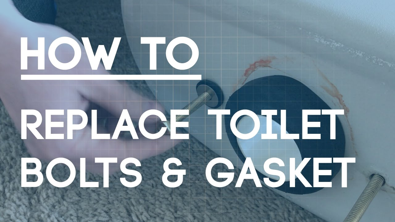 How to Replace Toilet Bolts and Gasket - Fix a Leaky Toilet - YouTube