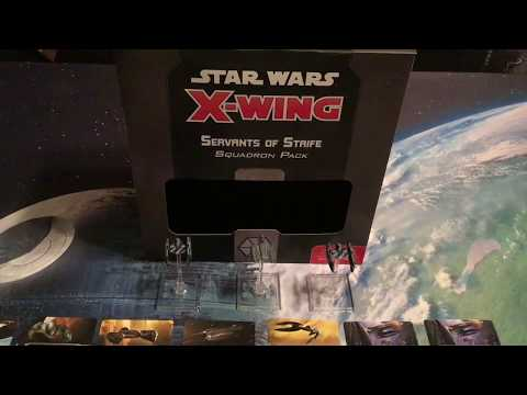Star Wars X-wing Miniatures Game Part 86 (Servants of Strife Squadron Pack)