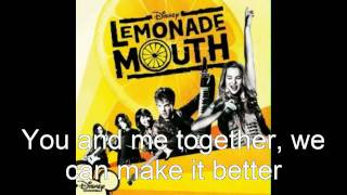 Lemonade Mouth - Determinate Soundtrack (Lyrics)