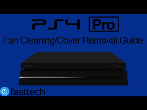 PS4 Pro Fan Cleaning and Top Cover Removal (General Maintenance)
