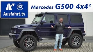 2016 Mercedes-Benz G 500 4x4² - Fahrbericht der Probefahrt, Test, Review Ausfahrt.tv