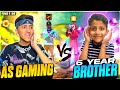 My 6 Year Brother Challenge Me For 1 Vs 1 😂 Clash Squad | 10,000 Diamond - Garena Free Fire