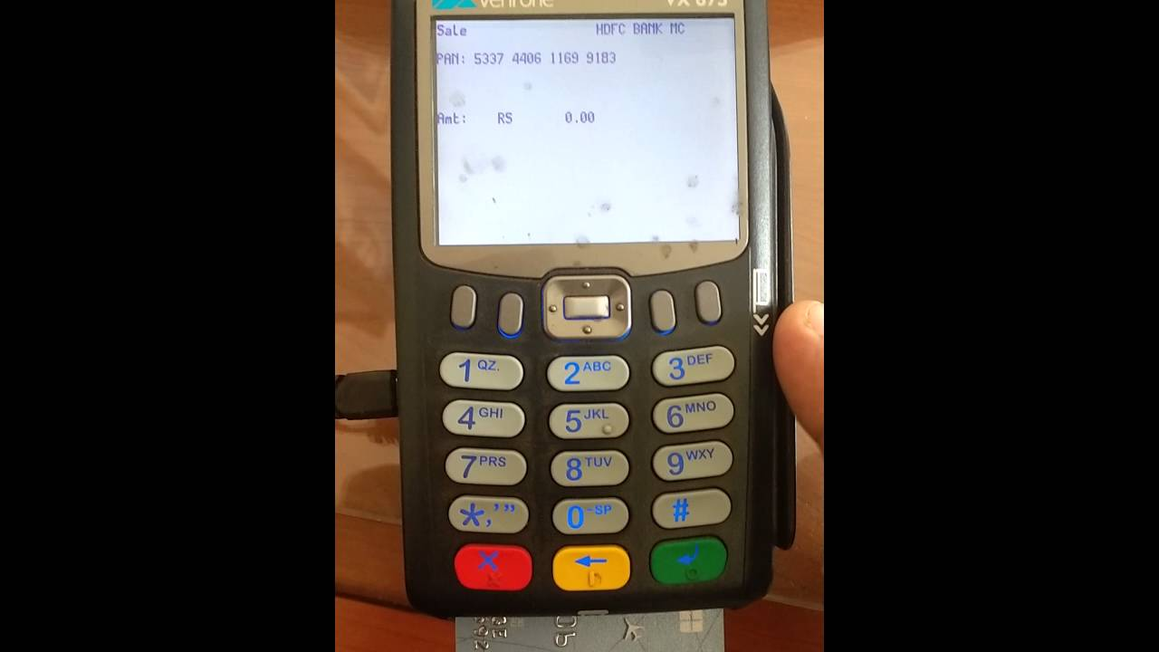 How to use credit card machine - YouTube